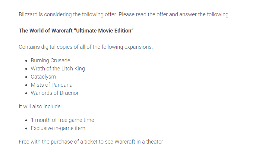 World of Warcraft Ultimate Movie Edition