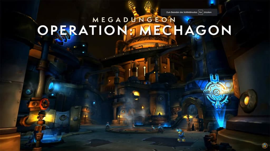 Neuer Megadungeon Operation Mechagon mit 8 Bossen.