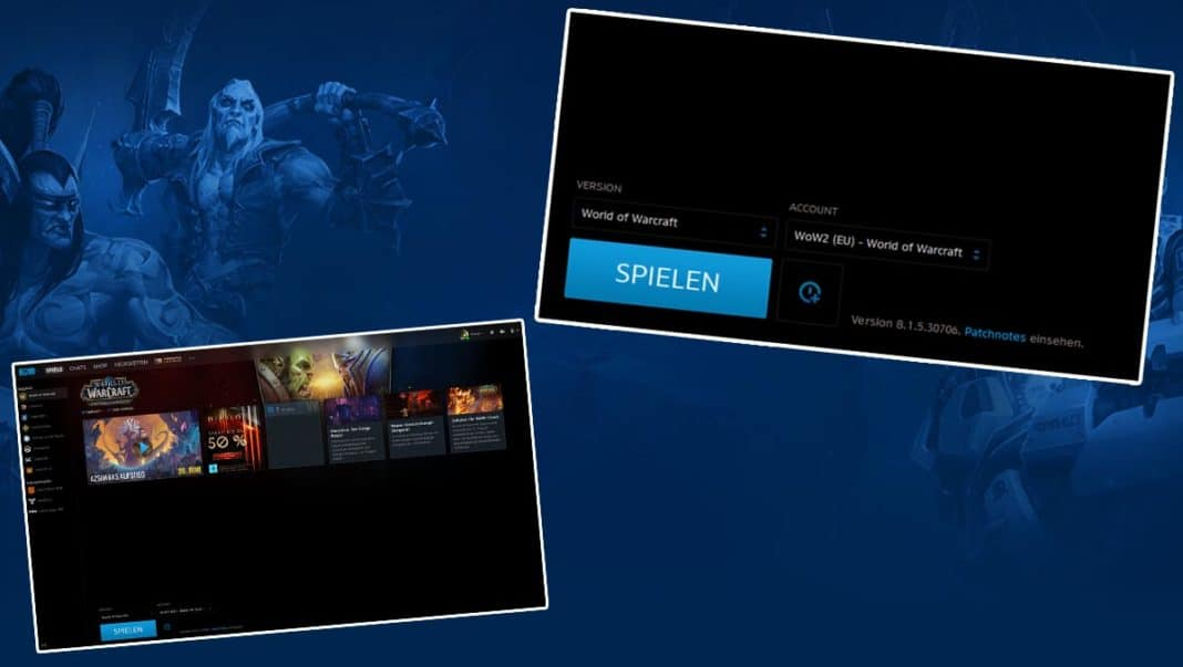 Battle.net-Client Update mit Accounts und Spielversion