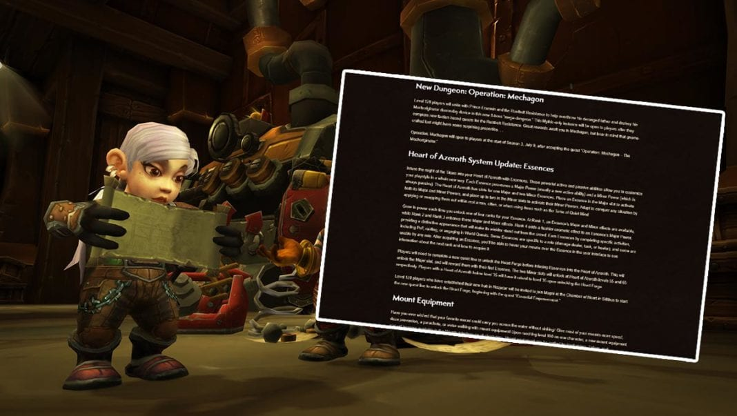 WoW Patch 8.2 Patch Notes