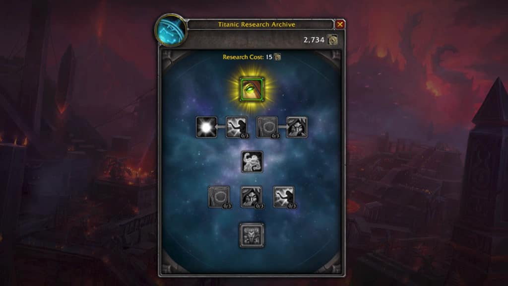 WoW Patch 8.3: Titanic Research Archive