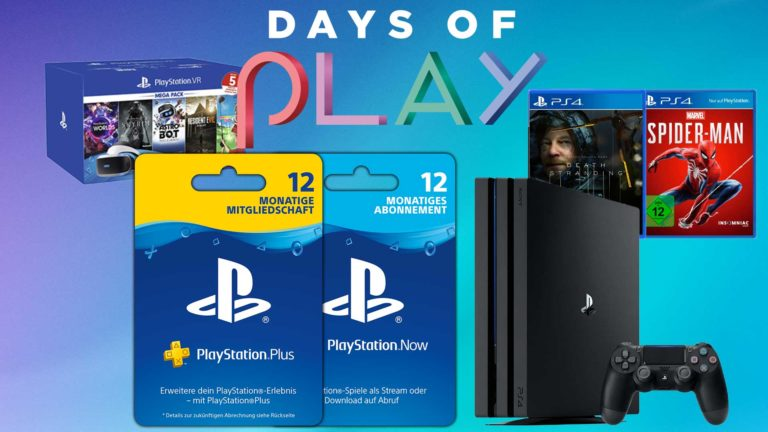PlayStation Days of Play 2020: PS4 Pro, PS Plus, Spiele & VR im Angebot