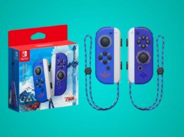 Nintendo Switch Joy-Con 2er-Set im Zelda Skyward Sword Design