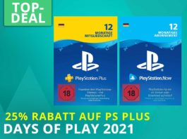 Sony Days of Play 2021 Angebote: 12 Monate PS Plus Abo